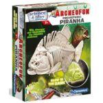 Clementoni - Archeofun - Világító Piranha tudományos játék (61242)